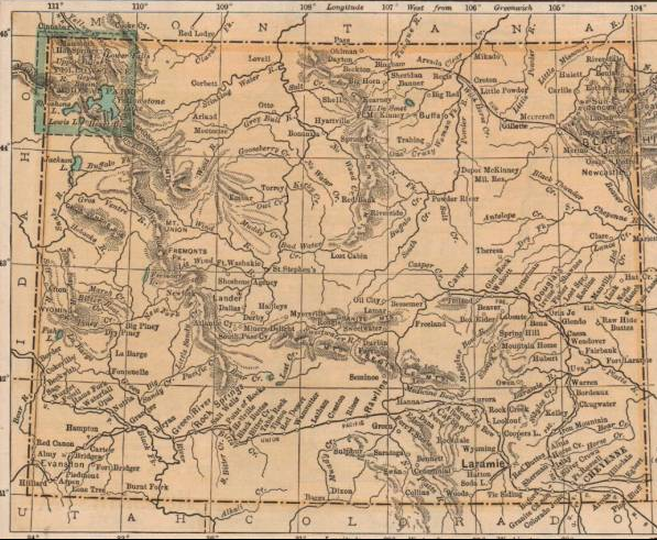 map of wyoming in 1892