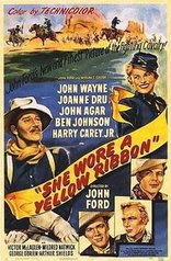 she wore a yellow ribbon poster